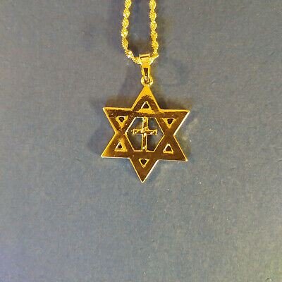 Necklace - star of David w/ cross, Messianic Jewish Interest Yeshua!
