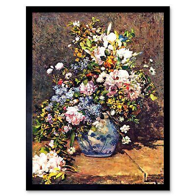 Pierre Auguste Renoir Still Life (Pierre Auguste Renoir Still Life With Large Vase Old Painting Framed Art Print)