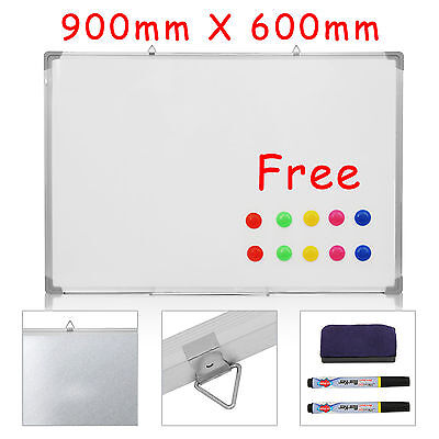 Large Office School Magnetic Dry Wipe Whiteboard Drawing Memo Notice Board +2Pen