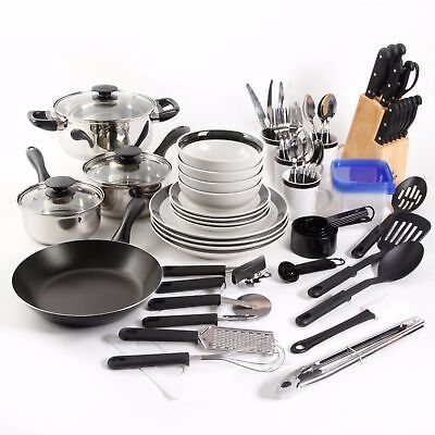 Cookware Set Non-Plonk 83 Part Pots and Pans Combo Set Kitchen Cooking Grit one's teeth