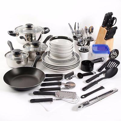 Cookware Set Non-Stick 83 Piece Pots and Pans Combo Set Kitchen Cooking Steel