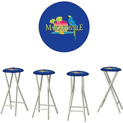 Padded Metal Folding Bar Pub Patio Counter Stools- Margaritaville 30