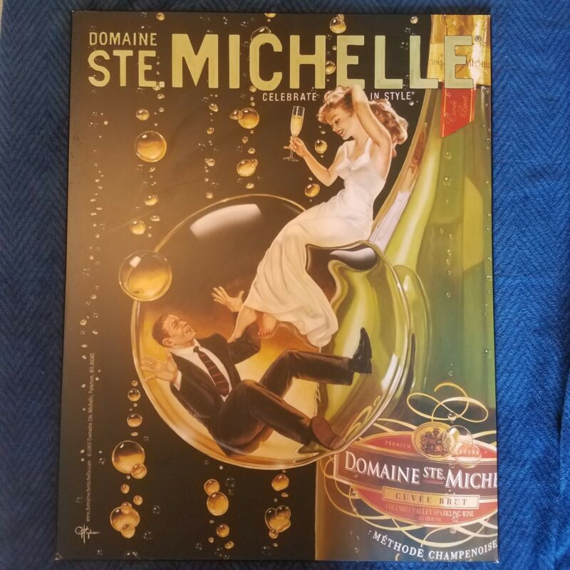 Board Advertisement For Domaine Ste. Michelle Alcohol Wine 28 x 22