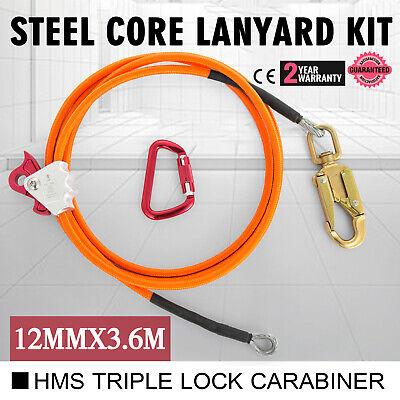 Climb Right 12 X 12 Steel Core Lanyard Kit Flipline 75223 Swivel Snap