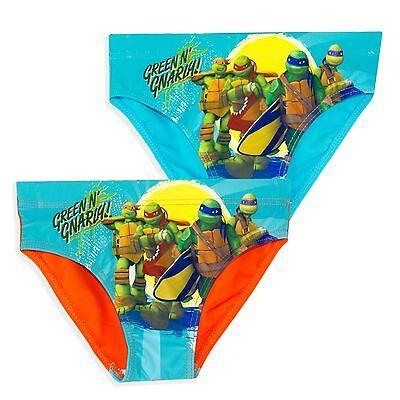 Teenage Mutant Ninja Turtles Jungen Schwimmen Unterhose Slip Kostüm Shorts (Jungen Slips Kostüm)