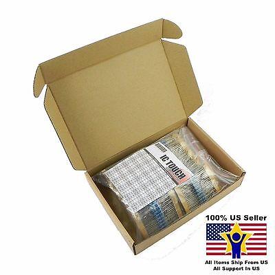 100value 1000pcs 12w Metal Film Resistor Assortment Kit Us Seller Kitb0079