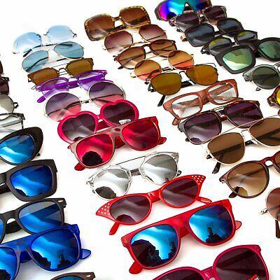 Bulk Pack Shades Sunglasses Vintage Classic 80's Retro Shades Mirror (Sun Glasses Clearance)