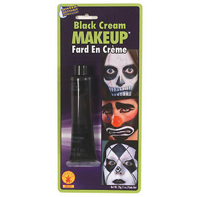19g Happy Halloween Black Cream Skull Ghost Fancy Dress Face Paint Make Up - Happy Halloween Face Painting