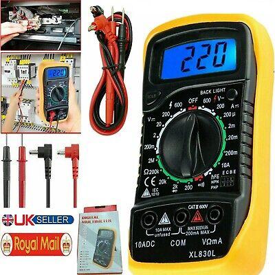 Digital Lcd Multimeter Voltmeter Ammeter Ohm Ac Dc Circuit Current Buzzer Tester