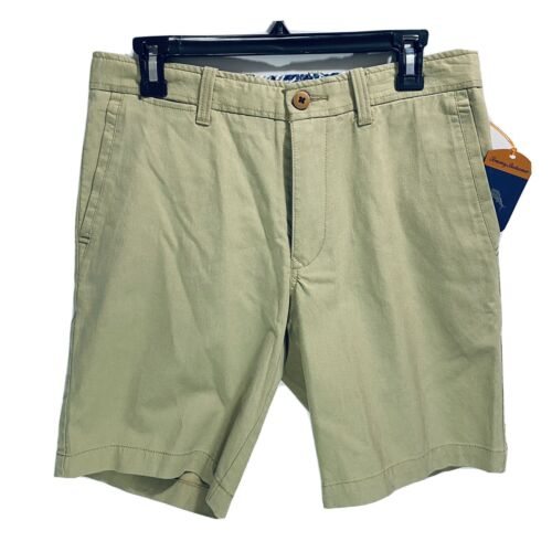 $98 Tommy Bahama Mens Offshore Chino Shorts Khaki Floral Waist 30 Golf Beach Clothing, Shoes & Accessories