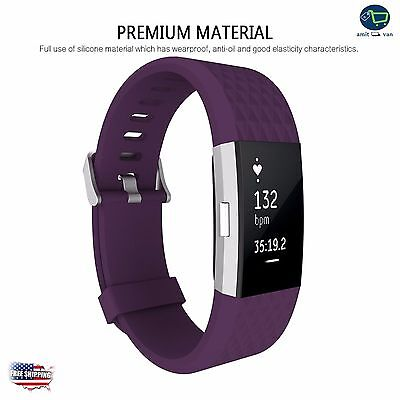 PLUM POP Wristband Band Strap Bracelet Accessories For FITBIT CHARGE 2