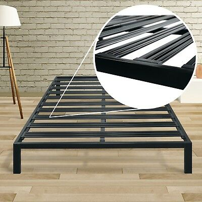 Classic 14'' Metal Platform Bed Frame with Extra Sturdy Heavy Steel Slat