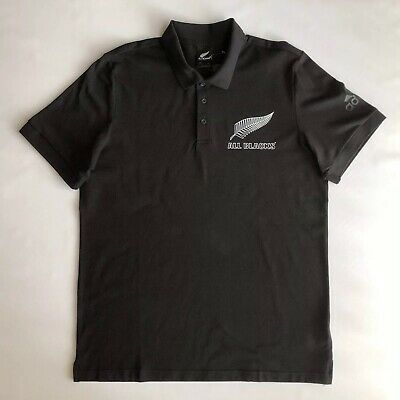 b0569073a NWT Adidas New Zealand All Blacks 2018/19 Supporters Polo Shirt Black Men's  SzXL