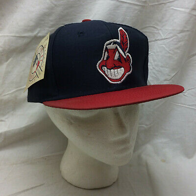 Baseball Hat Cleveland Indians Chief Wahoo Snapback by Logo 7 Blue Red White Cleveland Indians Baseball Hat