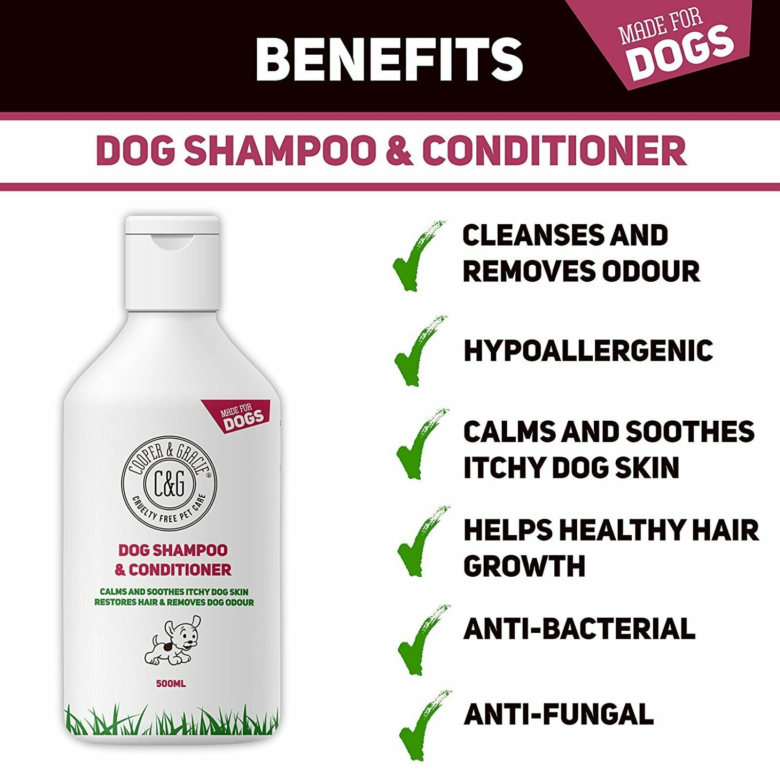 C&G Dog Shampoo for Smelly Dogs and