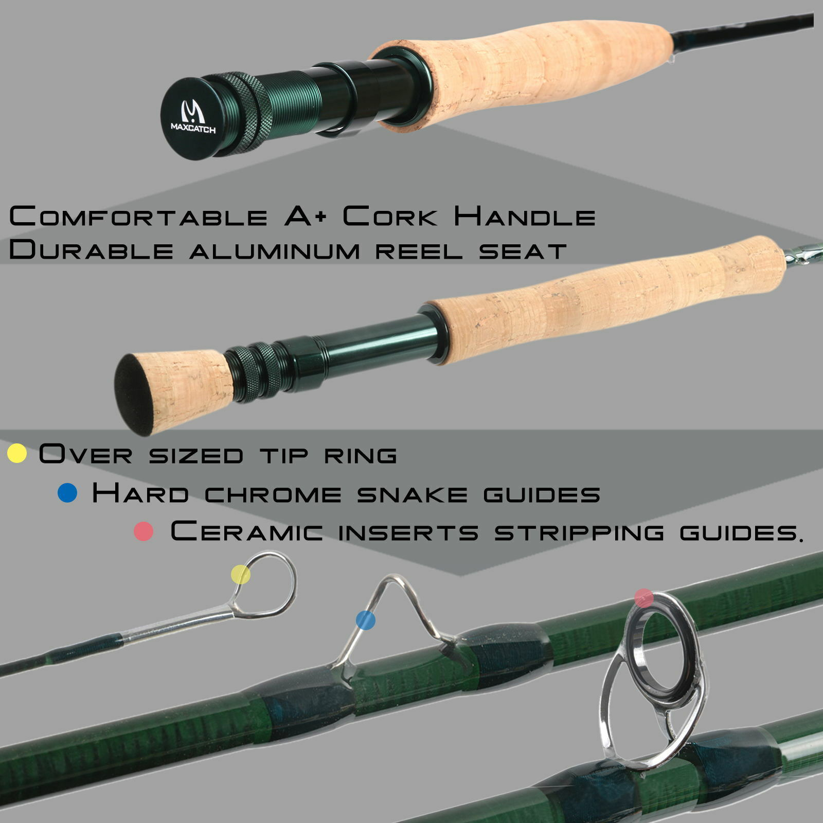 Fly Reel,Line,Flies Outfit Maxcatch Extreme 3//4//5//6//7//8WT Fly Fishing Rod Combo