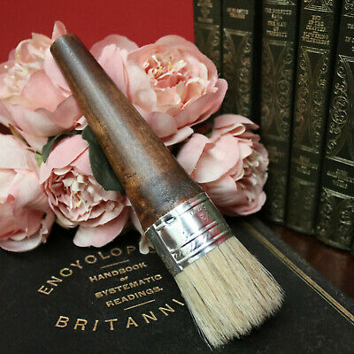 20cm Natural Bristle, Timber Handle and Metal Ferrule Wax and Polish Brush