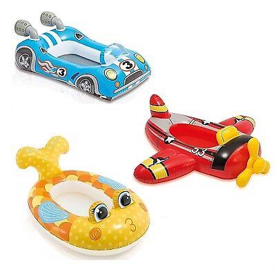 Intex Kids Inflatable Ride On Swim Pool Float Boat Plane Car Fish Toy (Fish Pool Toy)