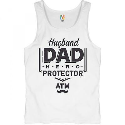 Husband Dad Protector Hero ATM Tank Top Father's Day Papa Daddy Men's Top