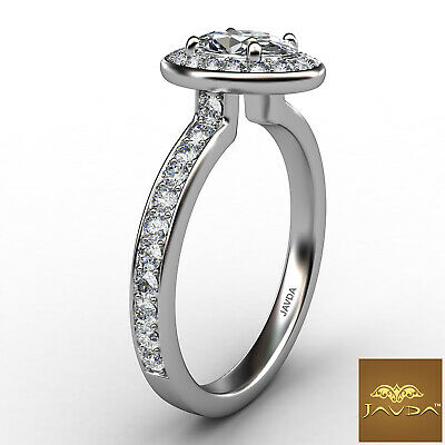Halo Pave Set Cathedral Oval Cut Diamond Engagement Ring GIA F Color SI1 0.95Ct 2