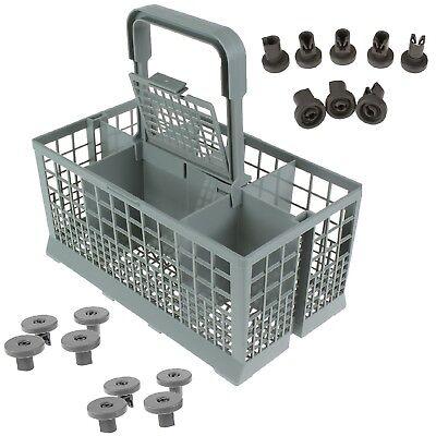 240mm Dishwasher Cutlery Basket + 8 Lower Wheels + 8 Upper Wheels For Zanussi