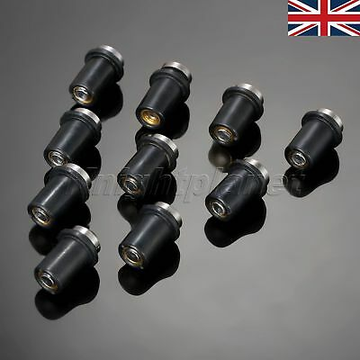 UK 10X 5MM MOTORCYCLE CNC WINDSCREEN SCREWS BOLTS FOR APRILIA RSV MILL