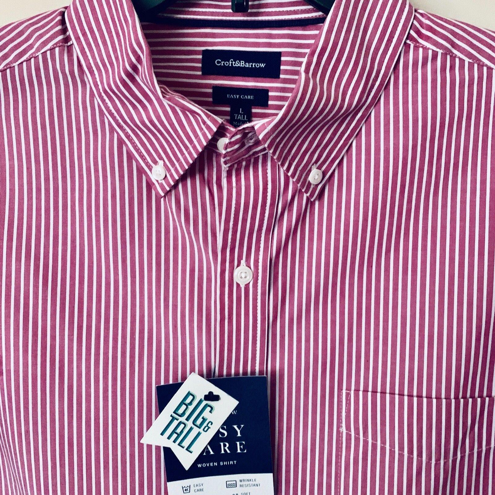 Croft & Barrow Short Sleeve Dress Shirt NWT Mens Big & Tall