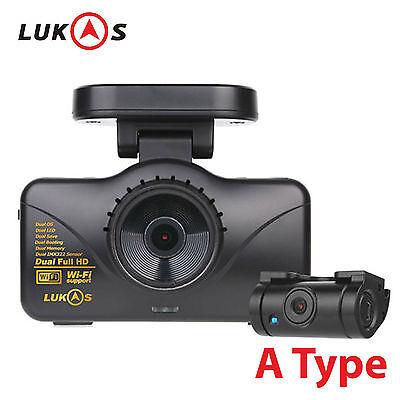 Lukas LK-7950 WD 8GB+8GB 2CH Dual FHD 1920x1080 Car Dash Camera Blackbox w/o GPS