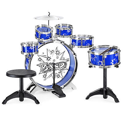 BCP 11-Piece Kids Beginner Drum Percussion Musical Instrument Toy Set](Drums Toy)