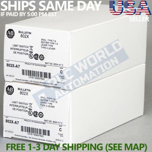 2021 Brand New Allen Bradley 802X-A7 /C Limit Switch NEMA 4/13 & 7/9 Watertight