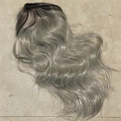 Long synthetic Light Blonde wig with patch of black Halloween Costume BRAND NEW - Costume With Blonde Wig
