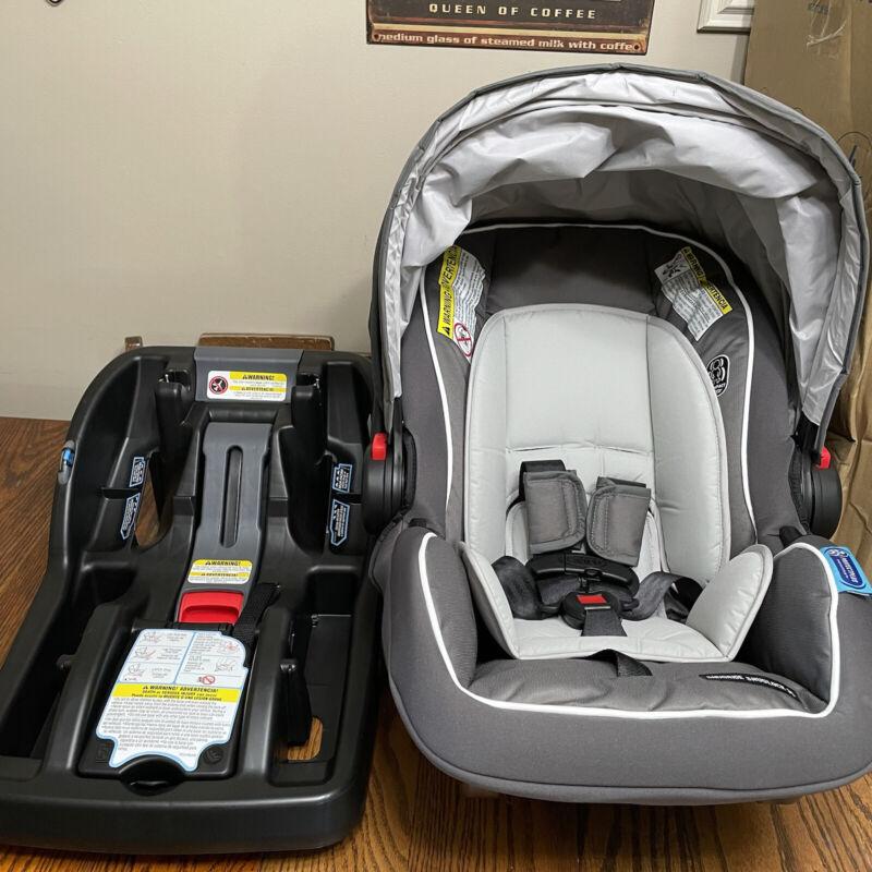Graco SnugRide SnugLock 35 Infant Car Seat and Base, Tenley Gray (NIB) Open box