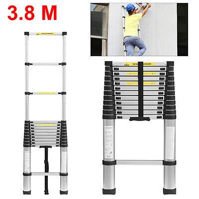 3.8M Portable Heavy Duty Multi-Purpose Aluminium Telescopic Ladder Extendable