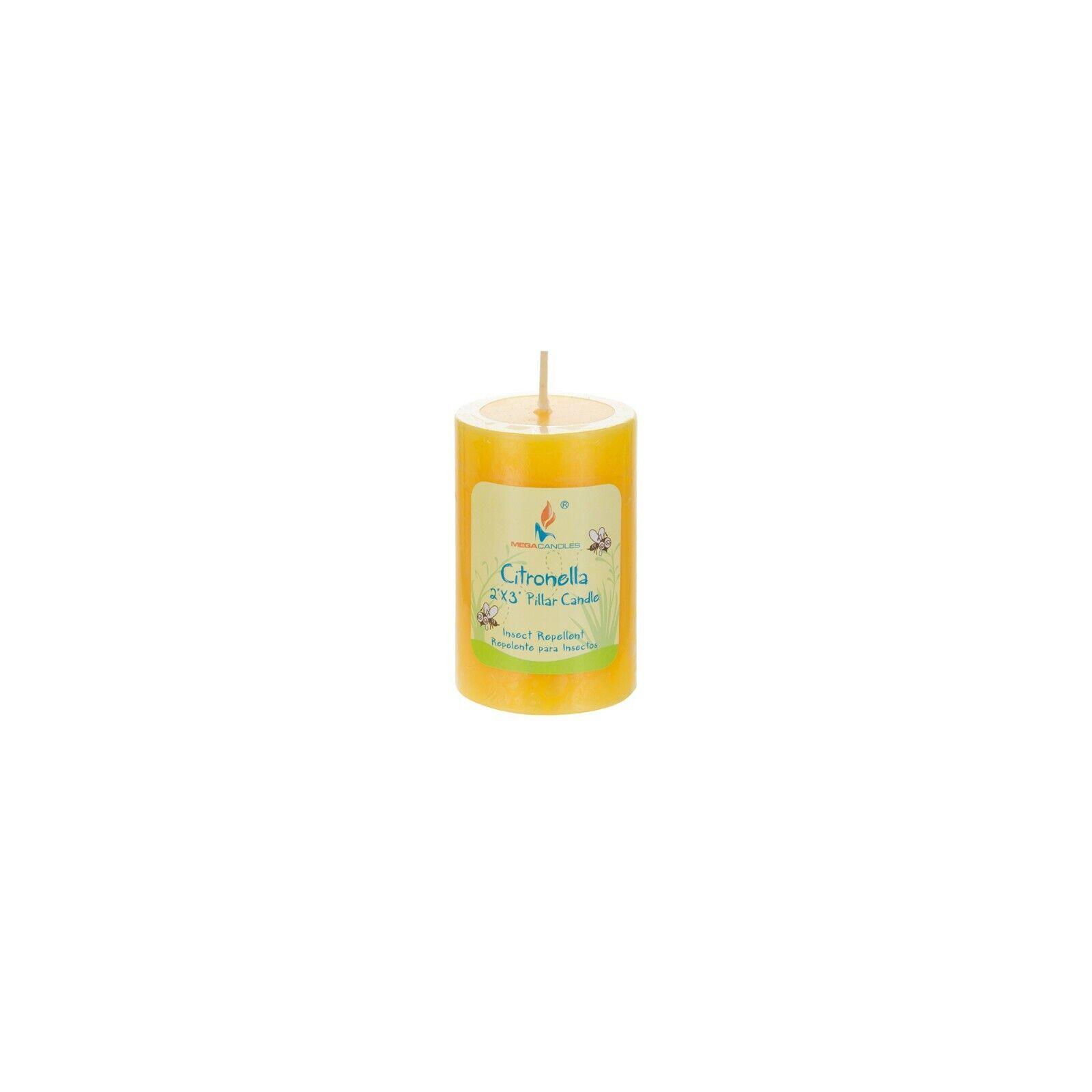 Mega Candles 1 pcs Citronella Round Pillar Candle | Hand Pou