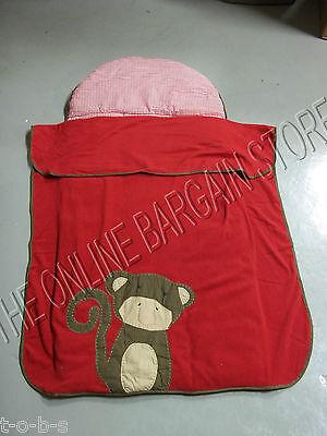 Pottery Barn Kids Monkey Sleeping Bag Nursery Preschool Nap Mat Red Bed 24X54