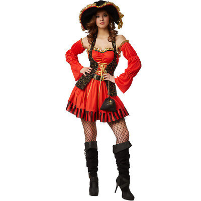 Frauenkostüm Piratenkostüm Damen Fasching Halloween Sexy Piraten Piratin Kostüm ()