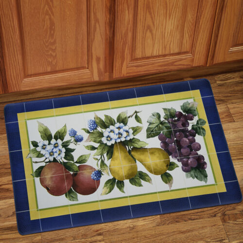 Fruity Tiles Memory Foam Anti-Fatigue Kitchen Floor Mat 18″ x 30″ Door Mats & Floor Mats