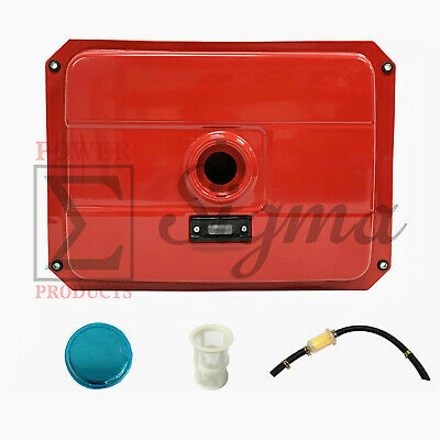 New 4 Gallon Red Fuel Tank Fits Most Open Frame 5-7kw Diesel Generator