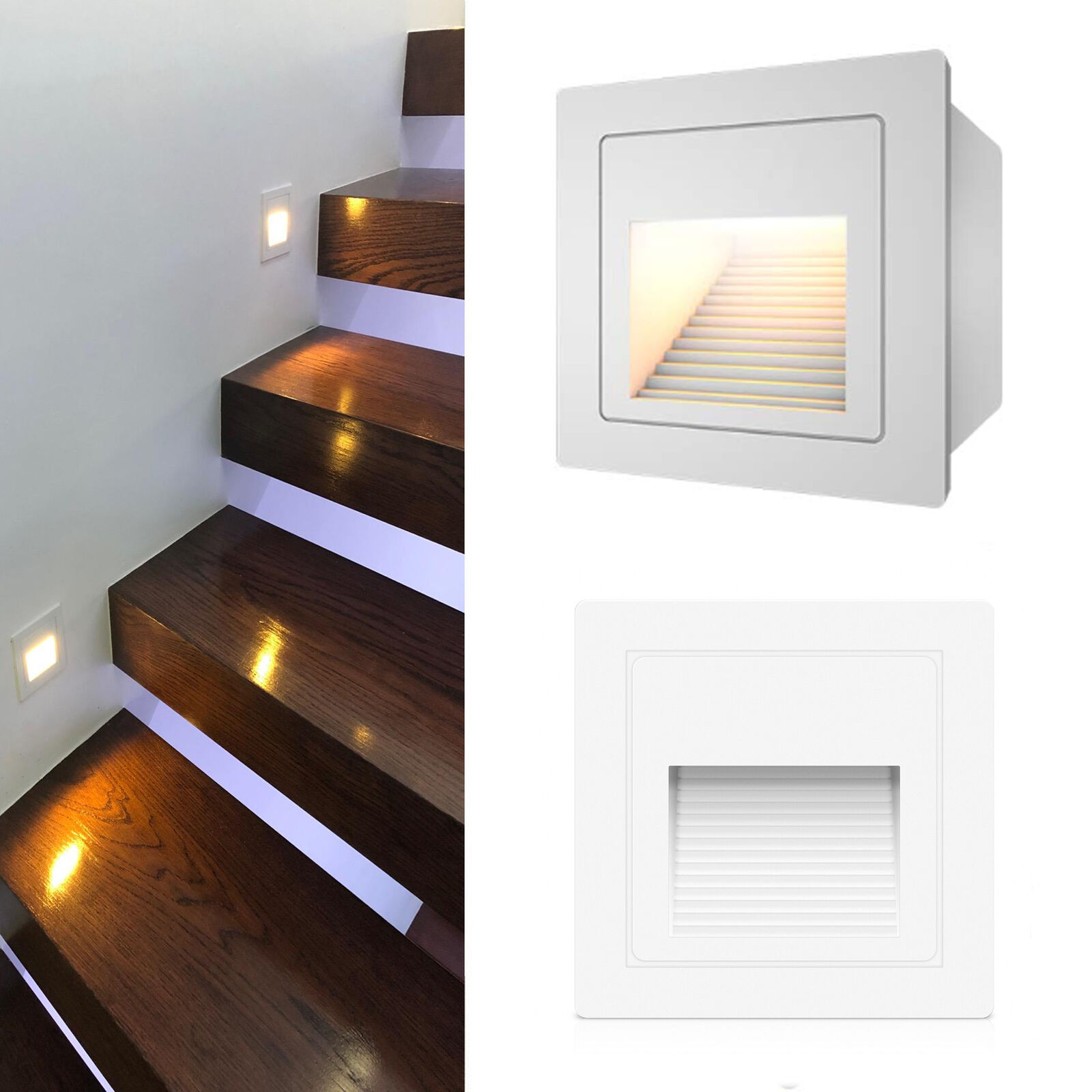 Details About 3w Outdoor Led Step Light Staircase Corner Wall Lamp Waterproof Stair Recessed