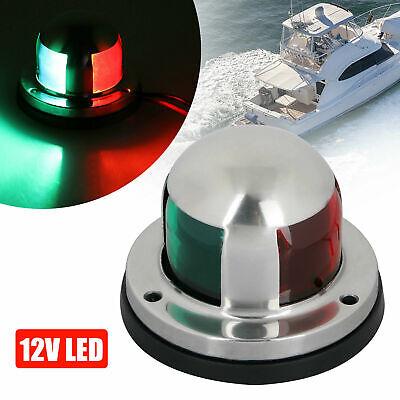 2 IN 1 Marine Boat Yacht Pontoon 12V Stainless Steel LED Bow Navigation Lights