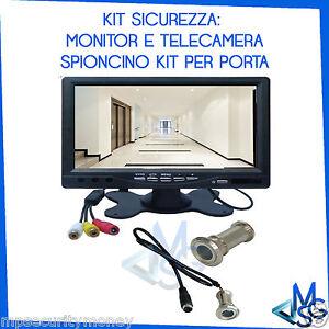 Telecamera spioncino e monitor lcd 7 pollici kit completo - Spioncino porta con telecamera ...