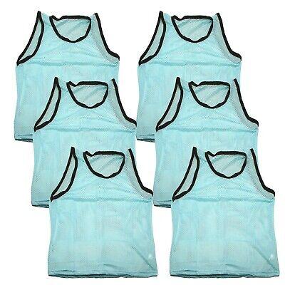 6 ADULT SKY BLUE Jersey practice uniform pinnie lacrosse fie