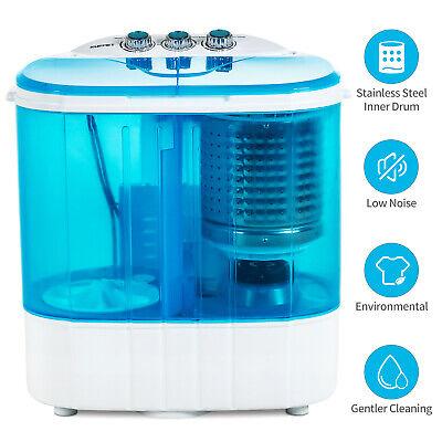 10 LBS Portable Mini Wash Machine Compact Twin Tub Washer Sp