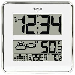 512-811-BBB La Crosse Technology Atomic Digital Wall Clock with W186-D Sensor