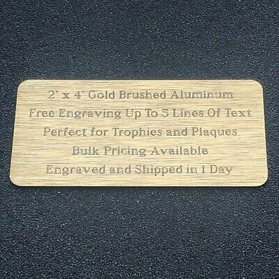 Custom Engraved Plate 2x4 Name Plate Plaque Award Art Label Tag Gift Trophy