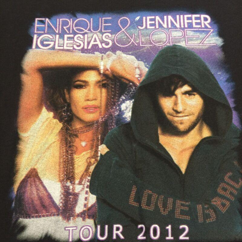 Jennifer Lopez & Enrique Iglesias J Lo - America Tour 2012 Concert Shirt - L