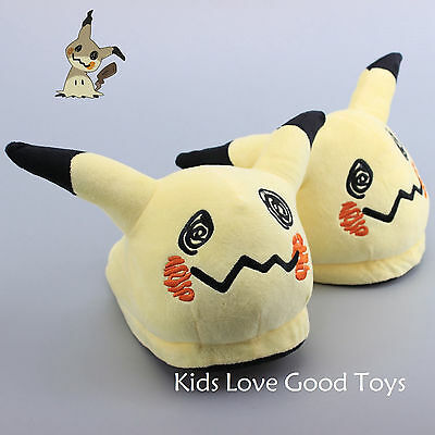 Pokemon Mimikyu Plush Slipper Indoor Casual Shoes 11'' for Kids Adult