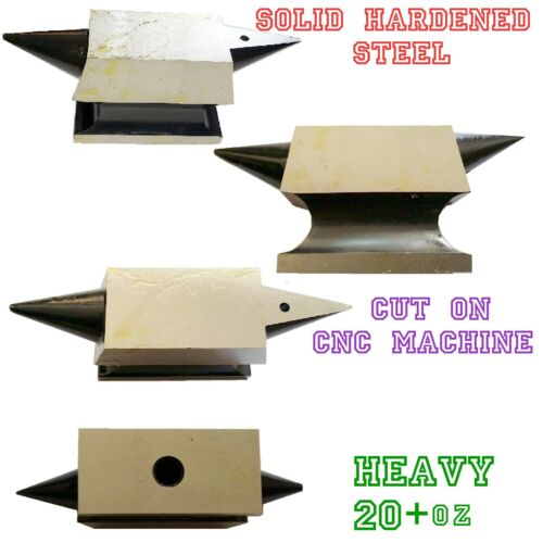 Double Horn Anvil Solid Steel Heavy 560gms Metal Forming H-DUTY PROFESSIONAL