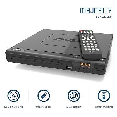 Majority Scholars Compact DVD Player HDMI Upscaling USB Multi Region DivX
