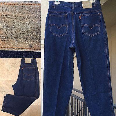 "VTG Levi's High Waist Tapered Leg Jeans Made In USA Orange Tab 31"" Waist"